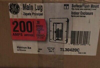 Ge Main Lug Circuit Breaker Panel Tl30420c 200a 208y120v 3ph 4w 30-circuit