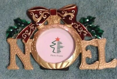 Pewter Picture Frame Holiday Home Accents Noel Christmas Carol Home Accents