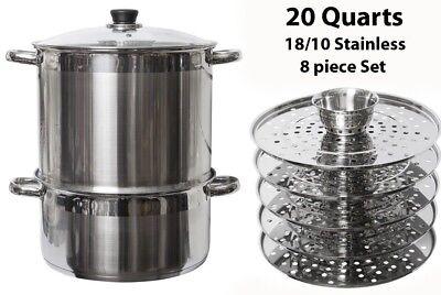 Uzbek 5 Level 20 Qt Stainless Steel Steamer Warmer Multi Cooker Mantovarka Manti