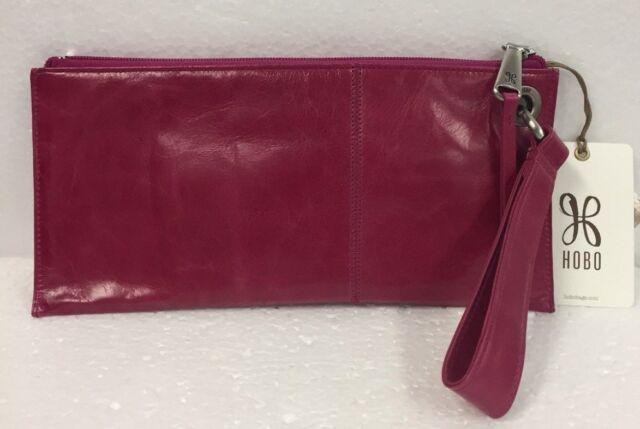 Hobo International Bags Genuine Leather Vida Fuchsia Wristlet ...