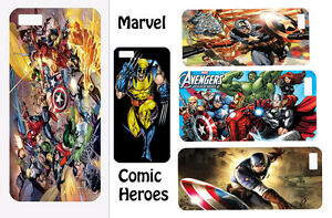 Marvel-Superhero-hard-back-phone-case-for-Iphone-4-4s-5-5s-5c-HTC-ONE-M7-BB-Z10