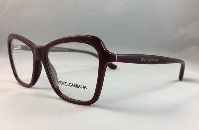 DOLCE & GABBANA Eyeglasses Frame DG 3263  Burgundy Red..54-16-140..Italy