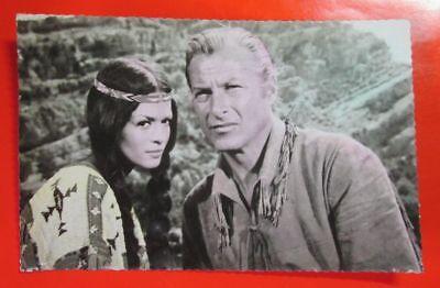 Lex Barker and Marie Versini Postcard  Winnetou's sister, Old Shatterhand