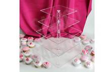Acrylic Cup cake stands - warehouse clearance limited stock Dingley Village Kingston Area Preview