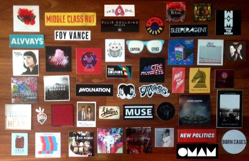 Huge 60+ Indie Rock Stickers Lot! RADIOHEAD MUSE ARCTIC MONKEYS NATIONAL BECK