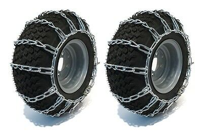 PAIR 2 Link TIRE CHAINS 18x9.50x8 for Sears Craftsman Lawn Mower Tractor Rider - Mower Tire Chains