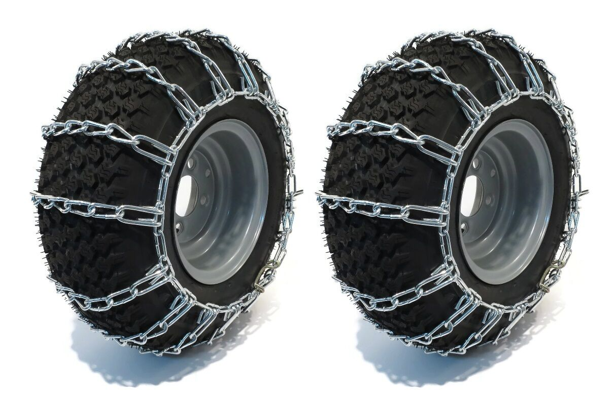 New Tire Chains 2 Link For John Deere Garden Tractor Lawn Mower 400 420 425
