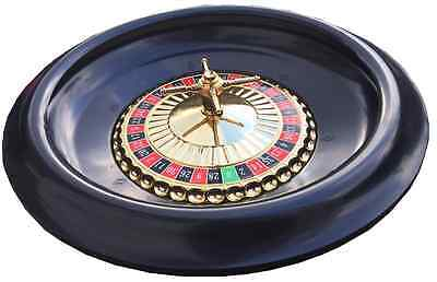 HUGE 40 CM ROULETTE WHEEL COMPLETE WITH BALLS - BRAND NEW