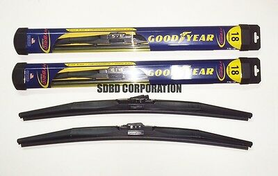 (1983-2011 Ford Ranger Goodyear Hybrid Style Wiper Blade Set of 2)