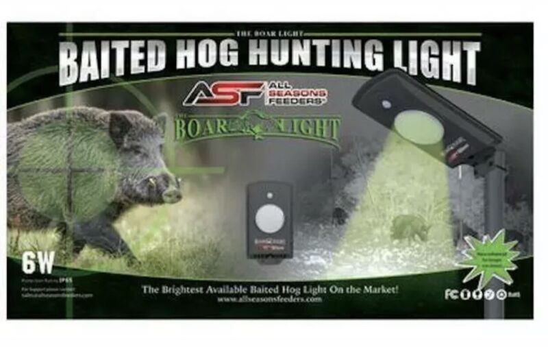 All Seasons Feeders Baited Boar Light Motion Activated Green LED
