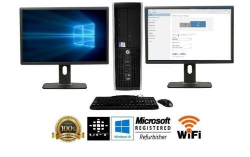 """Hp Or Dell Desktop Computer 16gb 2tb 512gb Ssd Core I5 Windows 10 Pc 24"""" 22"""" Lcd"""