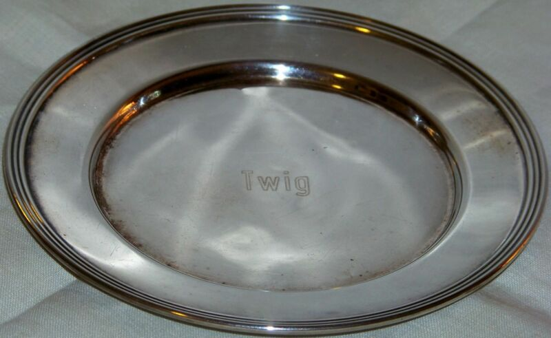"""Vintage Signed FB Rogers 6"""" Trophy Tray"""