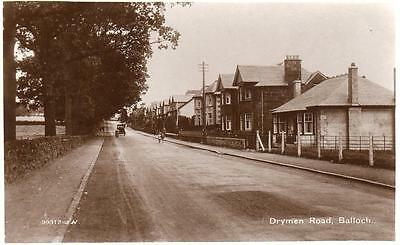 Drymen Road Balloch Alexandria RP pc used 1929 Valentines