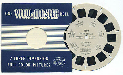 WEST BERLIN I Germany 1955 Belgium-made ViewMaster Single Reel 1500