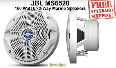 "JBL MS6520 180 Watt MS 6.5"" 2-Way Coaxial Marine Audio Speakers 6-1/2"" (White)"