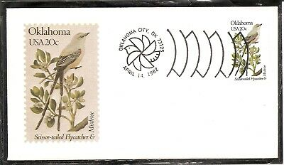 US SC # 1988 State Birds And Flowers ( Oklahoma ) FDC. Andrews Cachet .