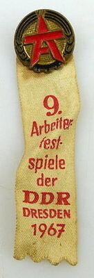 Abzeichen: 9. Arbeiterfestspiele der DDR DResden 1967, Orden1010