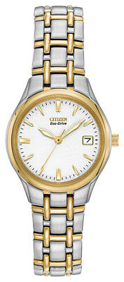 Citizen Eco Drive Women's Silhouette Calendar Two Tone 25mm Watch EW1264-50A