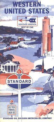 1966 Standard Oil Western United States Vintage Road Map