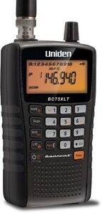UNIDEN BC75XLT HANDHELD POLICE SCANNER PORTABLE BEARCAT 300 CHANNEL FIRE NASCAR