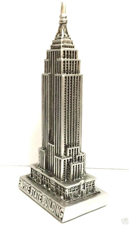 Pewter Empire State Building Statue Souvenirs from New York City 6 inch