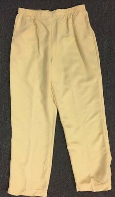 Alfred Dunner Womens Elastic Waist Solid PULL ON Casual Pants BANANA Yellow Alfred Dunner Casual Pants
