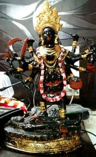 """Kali Statue Dakshina Kali Murti Sculpture 12"""" Inches Idol Figurine Cold Cast"""