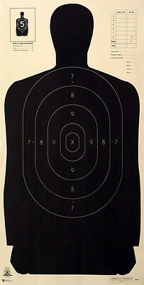 Official NRA B-27 silhouette targets 23