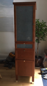 Small Ikea Cabinet with Drawers - red cherry wood veneer