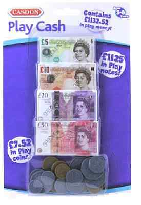 Casdon Play Money Cash Coins Bank Register Fake Pretend £ Notes Shops Role Play