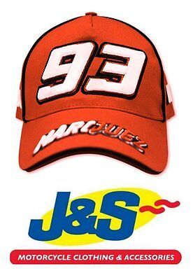 MARC MARQUEZ RED CAP 1033 MM93 MOTO GP MOTORCYCLE RACING BASEBALL J&S