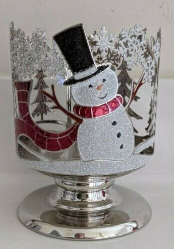 Bath & Body Works~ Joyful Snowman Pedestal Candle Holder