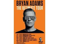 2 x BRYAN ADAMS CONCERT TICKETS - Glasgow SSE Hydro Arena - 26th May 2018