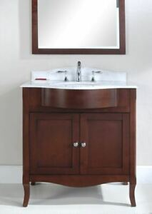 "32"" comtemporary bathroom vanity with top and sink"