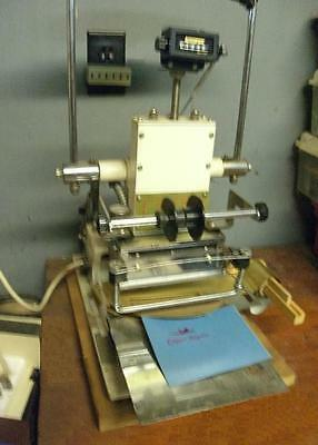 The Sle Hot Stamper Printer Gold Foil Press Model 1000b