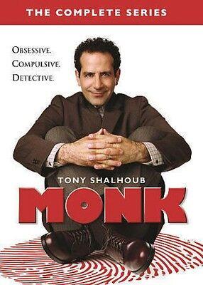 Monk: The Complete Series season 1 2 3 4 5 6 7 8 (DVD, 2016, 32-Disc Set)