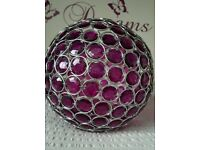 Purple crystal ball ceiling light