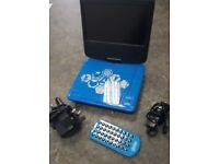 Avengers portable DVD player, inc remote, car and mains power supply