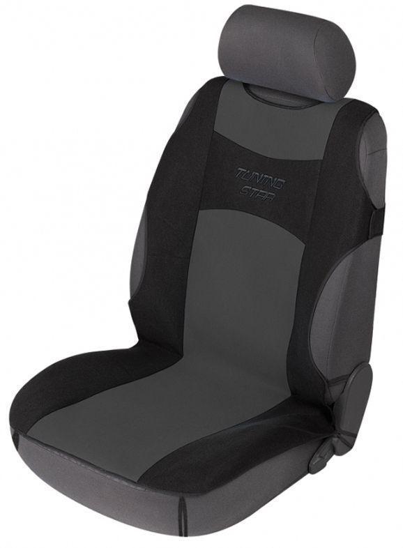 Sitzschoner Tuning Star schwarz/grau Schonbezug Sitzbezug universell verwendbar