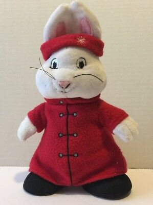 "RUBY 10"" PLUSH DOLL RABBIT BUNNY STUFFED FROM MAX & RUBY Winter CHRISTMAS"