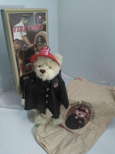 """Fire Chief"" Texaco Gasoline Bear - Stuffed Animal"