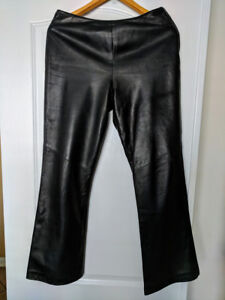 ►► DANIER BLACK LAMBSKIN LEATHER  PANTS◄◄