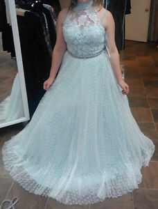 Elegant Light Mint Dress/Prom Dress