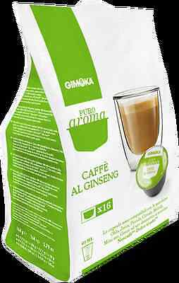 64 Cialde Capsule Caffe Ginseng Gin Seng Gimoka Compatible Nescafè Dolce Gusto
