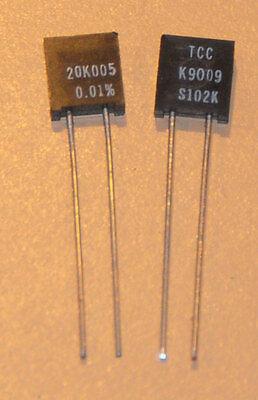 Tccvishay Precision Foil Resistors S102k 20.005k .01 2pcs