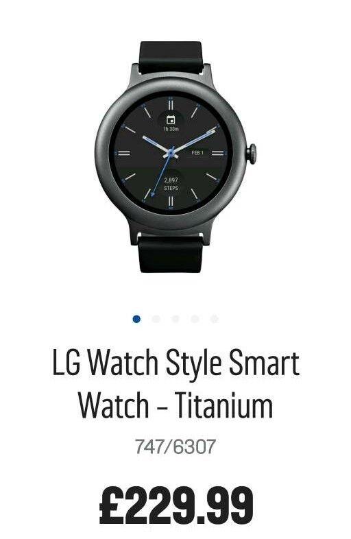 LG watch. WiFi Bluetooth smartwatch