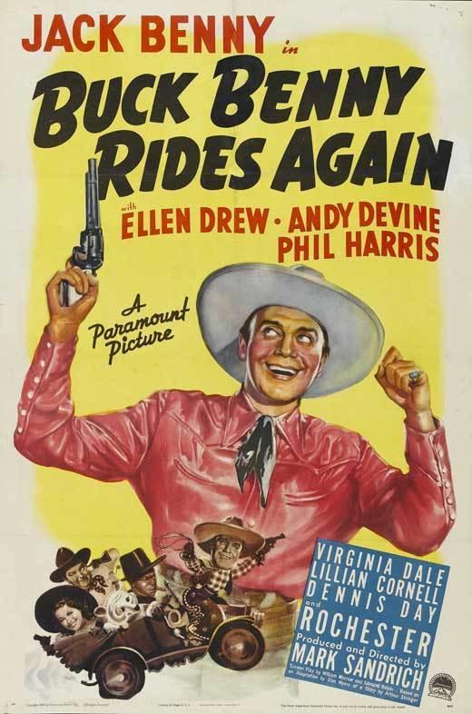BUCK BENNY RIDES AGAIN Movie POSTER 27x40 Jack Benny Ellen Drew Eddie
