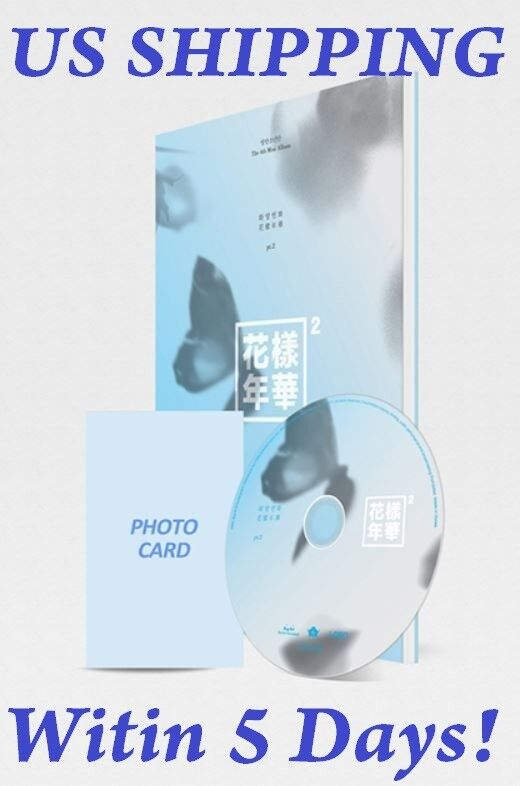 US SHIPPING BTS-[In The Mood For Love Pt.2] Blue 4th Mini CD+PhotoBook+Card