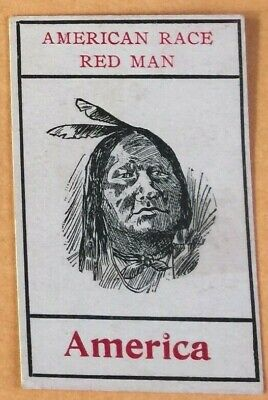 Vintage 1920s STAR BRAND SHOES American Race Red Man TRADING CARD Native - Mens 1920 Shoes