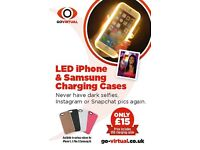 LED iPhone & Samsung Charging Selfie Cases